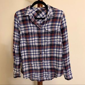 J Crew Plaid Collar Shirt